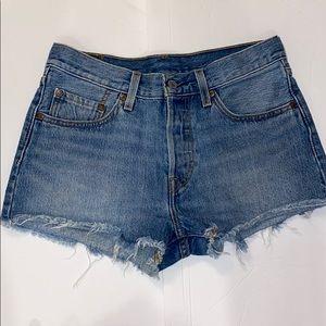 Levi's Denim Blue Jean Shorts